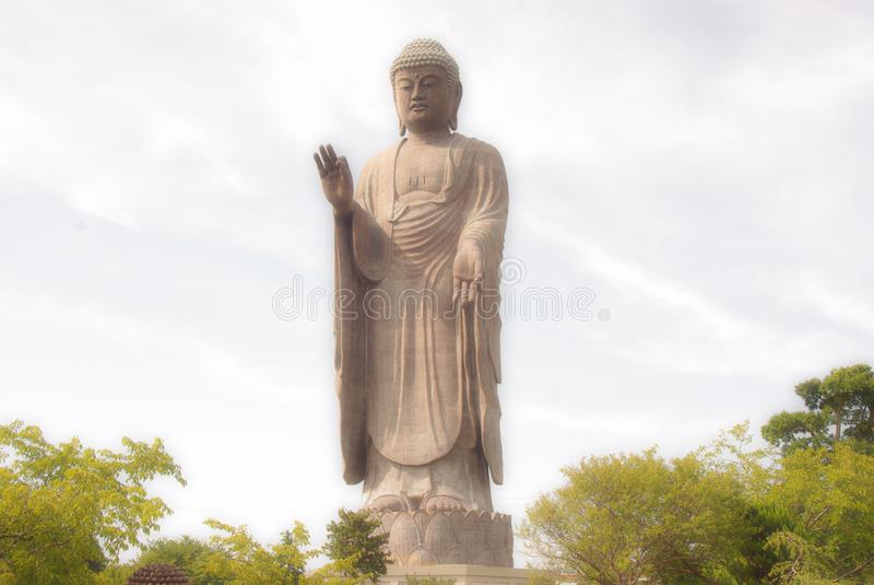 Big japan Buddha status. Big buddha status and sky background stock image