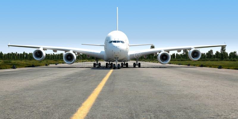 Download Big Jet Transporter 3d Illustration Stock Illustration - Illustration of arrival, sunny: 34304998