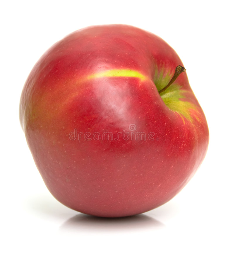 Big juicy apple royalty free stock photos