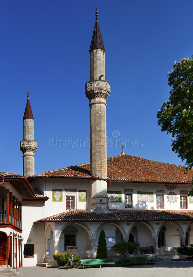 The Big Khan Mosque in Khan palace. In Bakhchisaray was built in 1532 stock photography