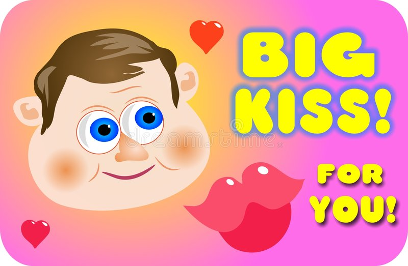 Big Kiss vector illustration