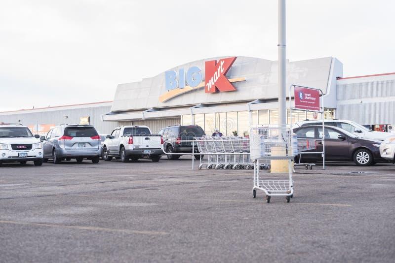 Big Kmart exterior entrance royalty free stock photography
