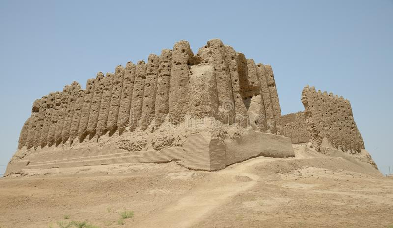 Big Kyz Kala fortress, Merv, Turkmenistan. royalty free stock photography