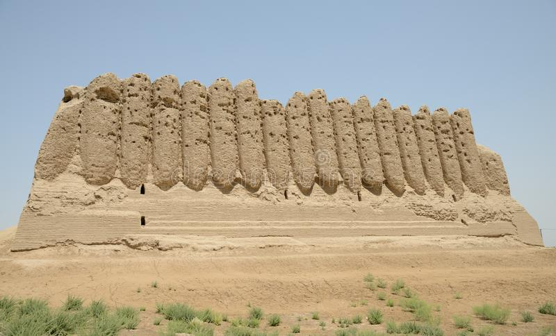Big Kyz Kala fortress, Merv, Turkmenistan. royalty free stock photos