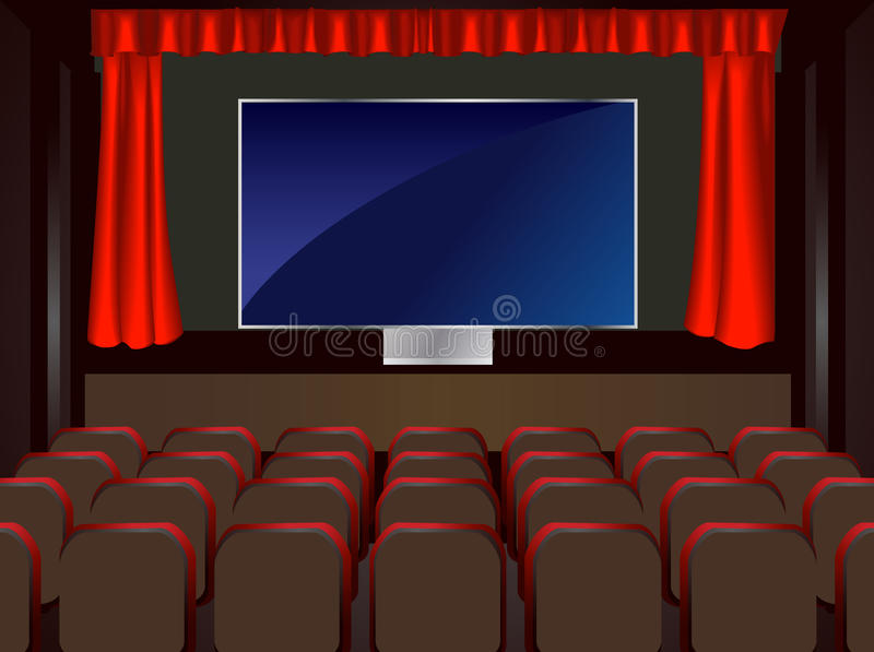 Download BIG LCD The Cinema In The Home Stock Illustration - Illustration: 25646720