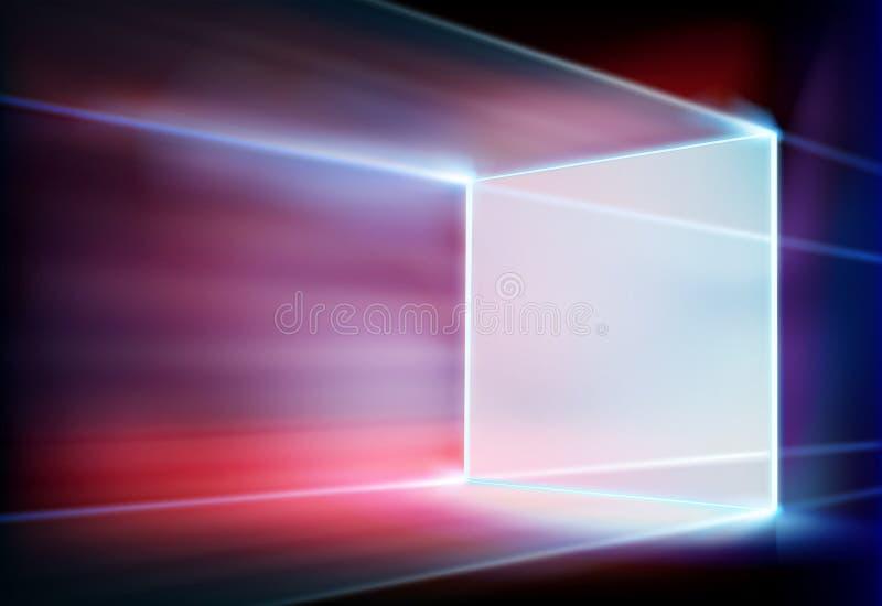 Big led projection screen. Vector illustration. Big led projection screen on stage. Vector illustration royalty free illustration