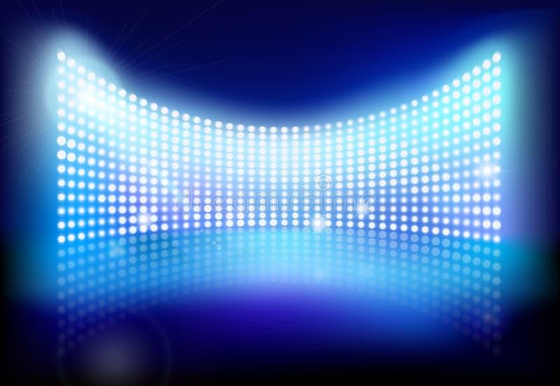 Big led screen. Vector illustration. Big led screen on stage. Vector illustration stock illustration
