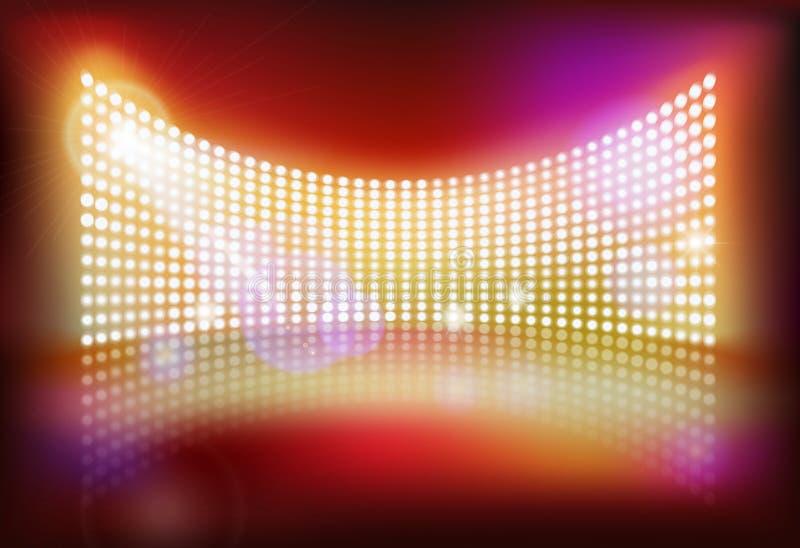 Big led screen. Vector illustration. Big led screen on stage. Vector illustration vector illustration