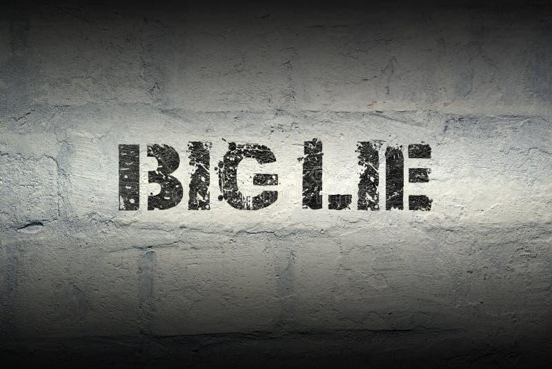 Big lie GR vector illustration