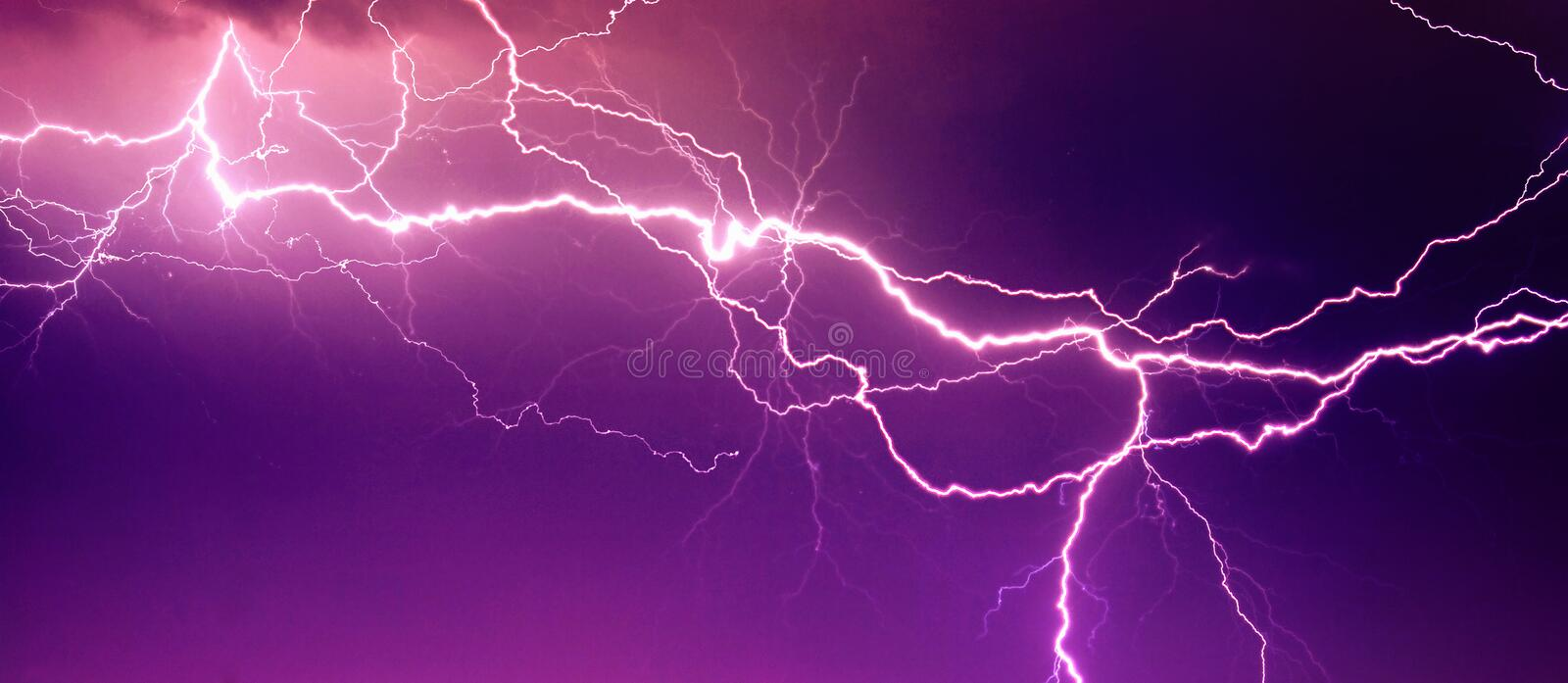 Big lightning on the sky stock image