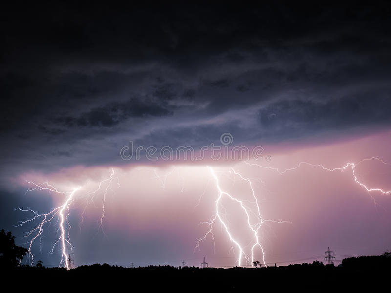 Big Lightning stock photos