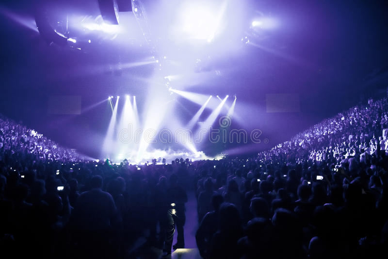 Big Live Music Concert royalty free stock photo