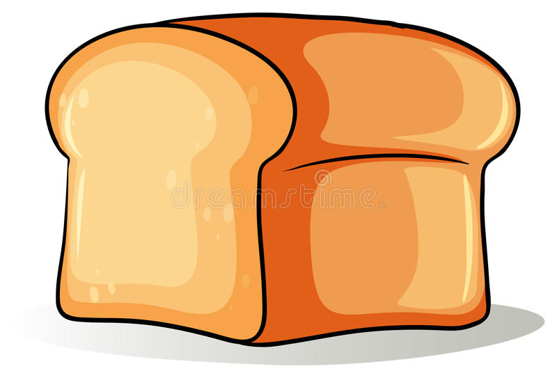 Big loaf of bread. On a white background stock illustration