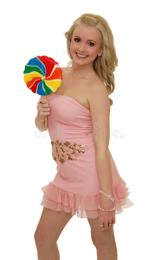 Download Big lollipop stock photo. Image of people, face, pink - 30895278
