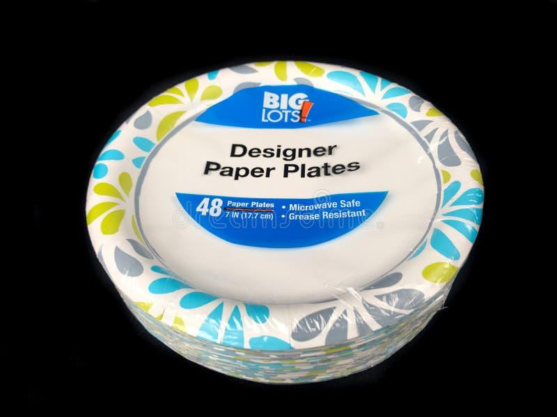 Download Big Lots Designer Paper Plates Editorial Image - Image of lots paper 117600595 & Big Lots Designer Paper Plates Editorial Image - Image of lots ...
