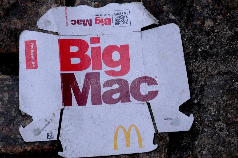 BIG MAC FOOD WASTE IN COPENHAGEN DENMARK. Copenhagen/Denmark. 5th ..Febuary 2019._ Big Mac menu from McDonals food menu in Copenhagen Denmark. Photo..Francis stock images