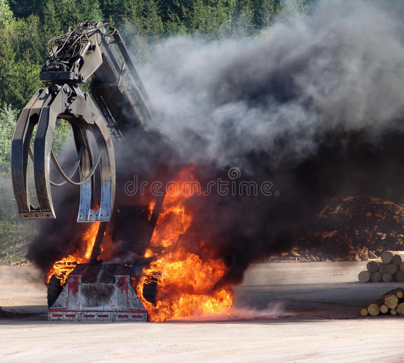 Free Big Machine On Fire Royalty Free Stock Photography - 12411107