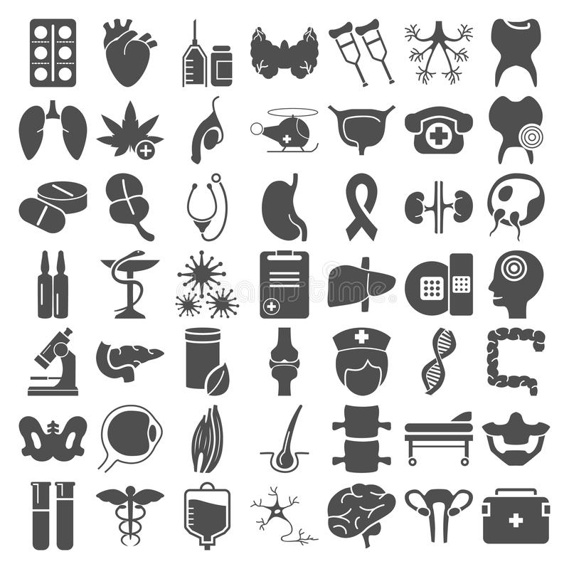 Big Medecine And Anatomy Simple Icons Set For Web And Mobile Design ...