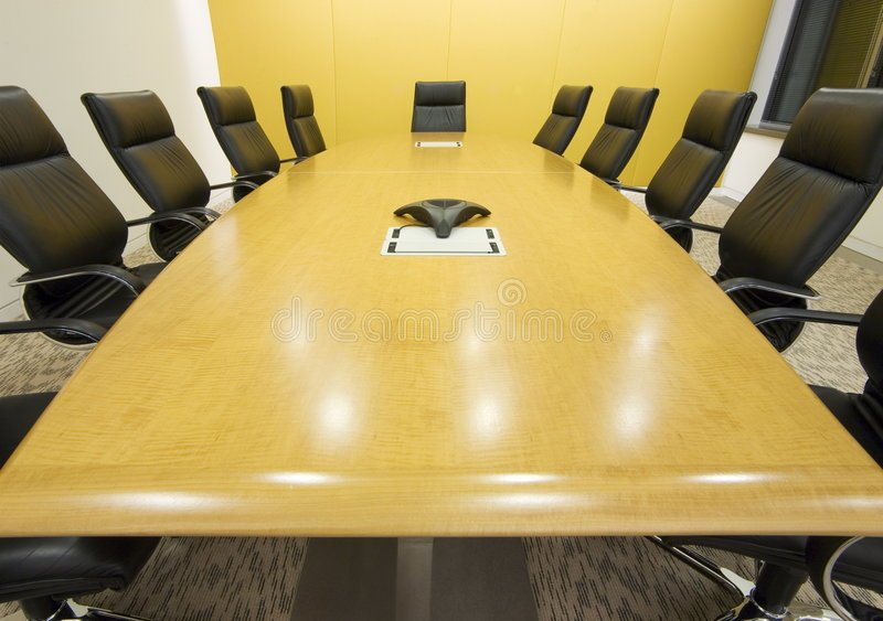Big meeting room stock photography