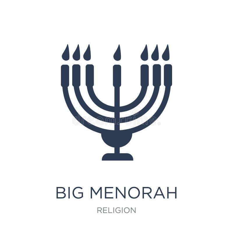 Big Menorah icon. Trendy flat vector Big Menorah icon on white b royalty free illustration