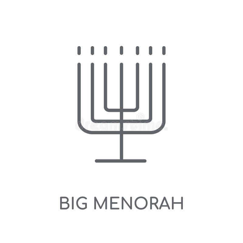 Big Menorah linear icon. Modern outline Big Menorah logo concept royalty free illustration