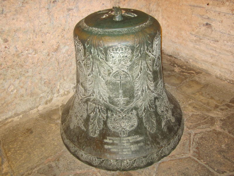 Big metal bell in Hagia Sophia, Istanbul, Turkey royalty free stock photography