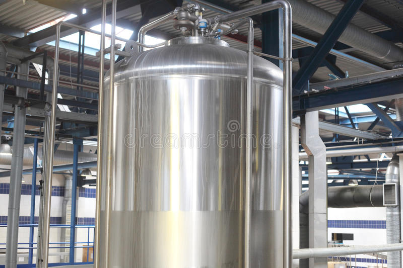 Big metal tank. With the glass hatch stock photo