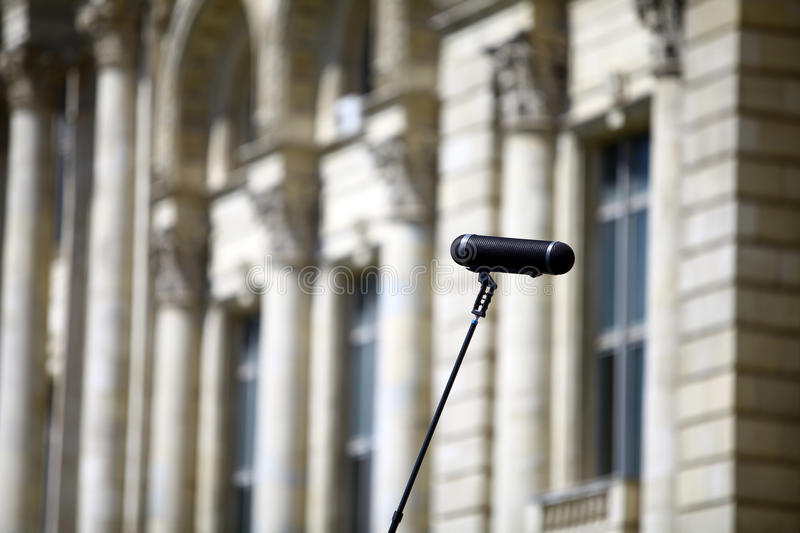 Download Big microphone stock photo. Image of broadcast, electronics - 26333554