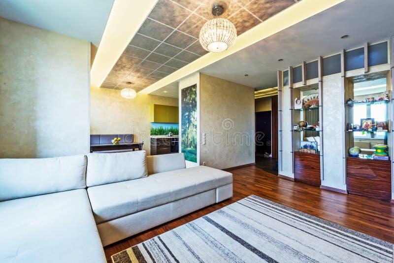 A big Modern living room royalty free stock photo