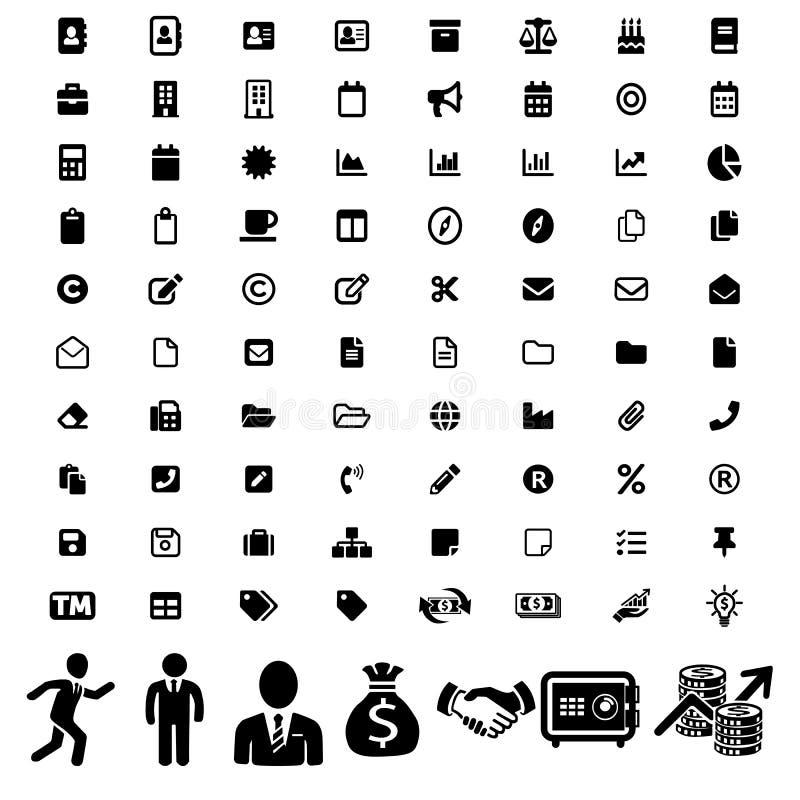 Big modern set of business icons. Businessmen pictogram. Vector illustration royalty free illustration