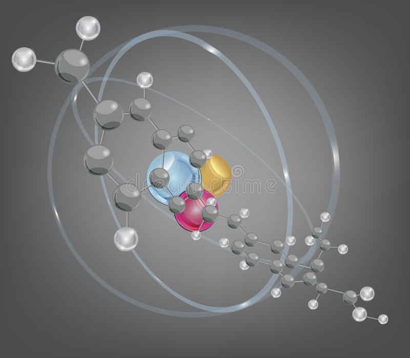 Download Big Molecule And Atomic Structure Stock Vector - Image: 22874836