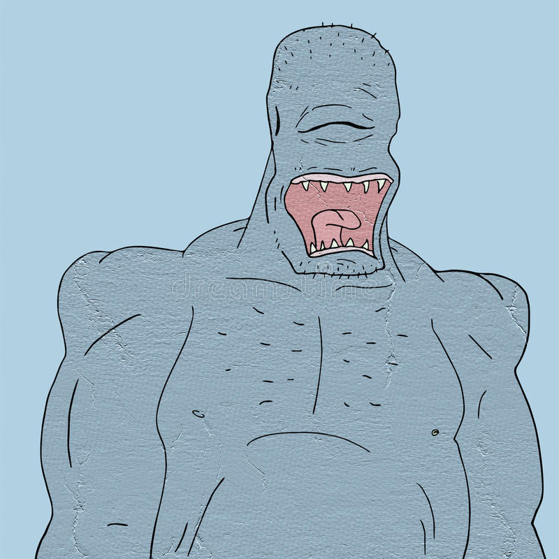 Big monster. Creative draw of big monster royalty free illustration