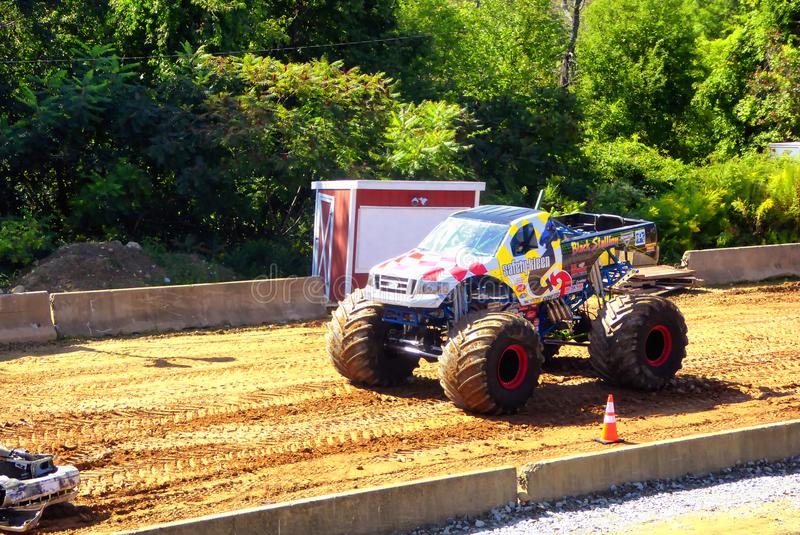 Monster trucks show. A big monster truck in 105th annual goshen fair in torrington connecticut united states royalty free stock photos