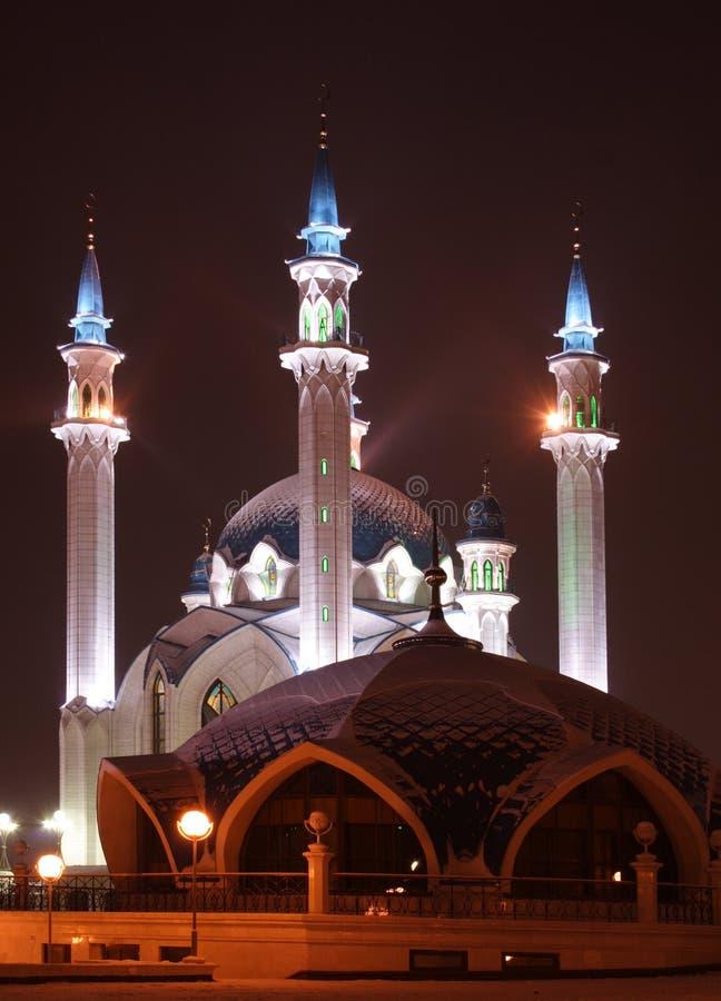 Big mosque. Russia. Sity of Kazan. The Kul Sharif mosque royalty free stock image