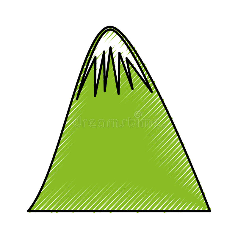 Big mountain drawing icon royalty free illustration