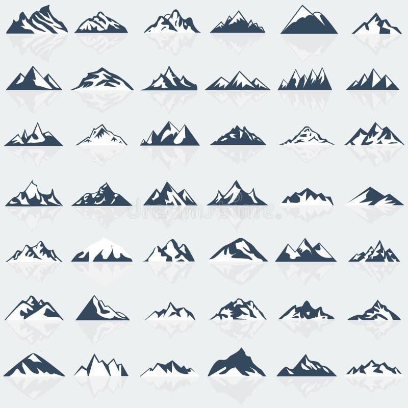Free Big Mountain Icons Set. Royalty Free Stock Photos - 71089688