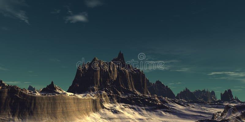 Big mountains stock image