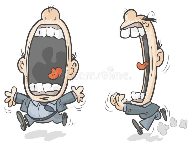 Download Big mouth man stock illustration. Image of expression - 28904996