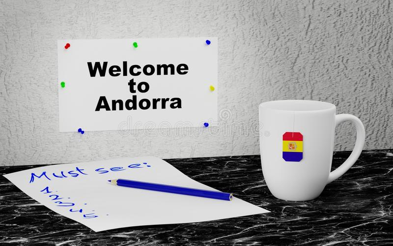 Welcome to Andorra vector illustration