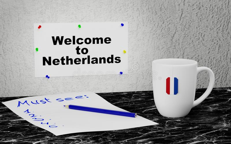 Welcome to Netherlands royalty free illustration