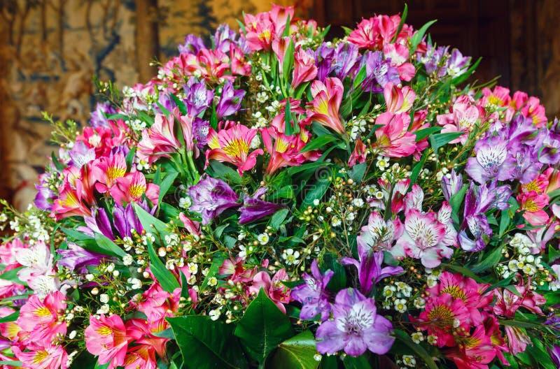 Big Multicolor Alstroemeria Flowers Bouquet Stock Photo - Image of ...