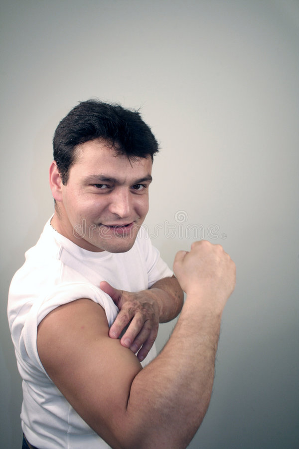 Download Big muscles stock image. Image of muscles, fist, sleeve - 292391