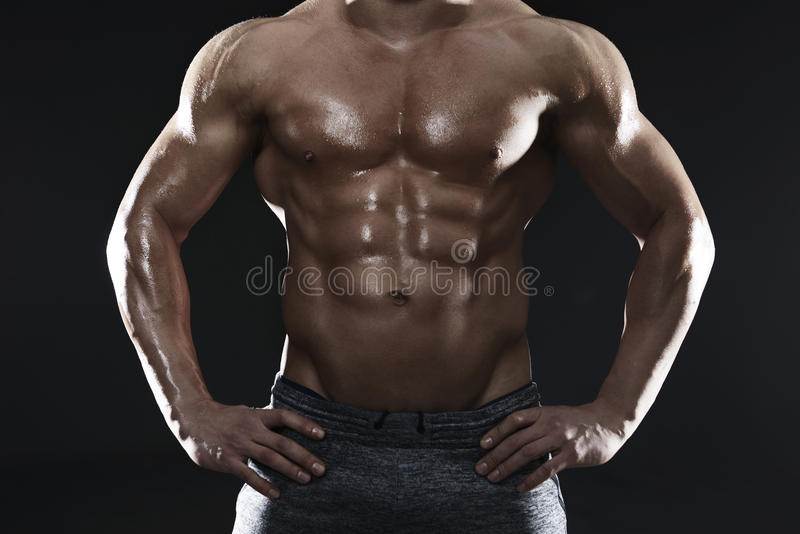 Big muscles. Are easily seen royalty free stock photos