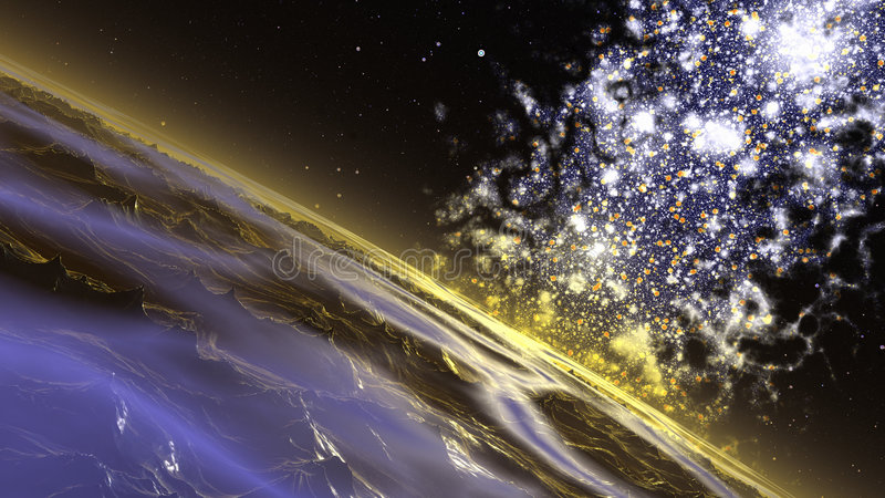 Big nebula royalty free illustration
