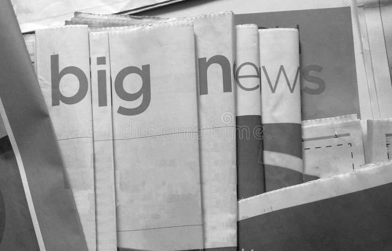 Big news black and white background royalty free stock photo