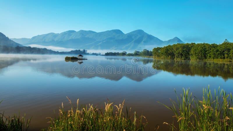Big nine lake scenery stock photo