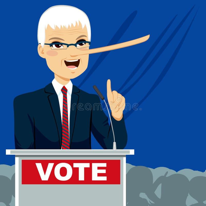 big nose politician lying stock vector