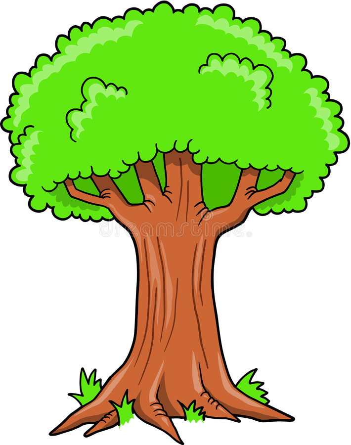 Download Big Oak Tree Vector stock vector. Image of earth, hard - 9205503