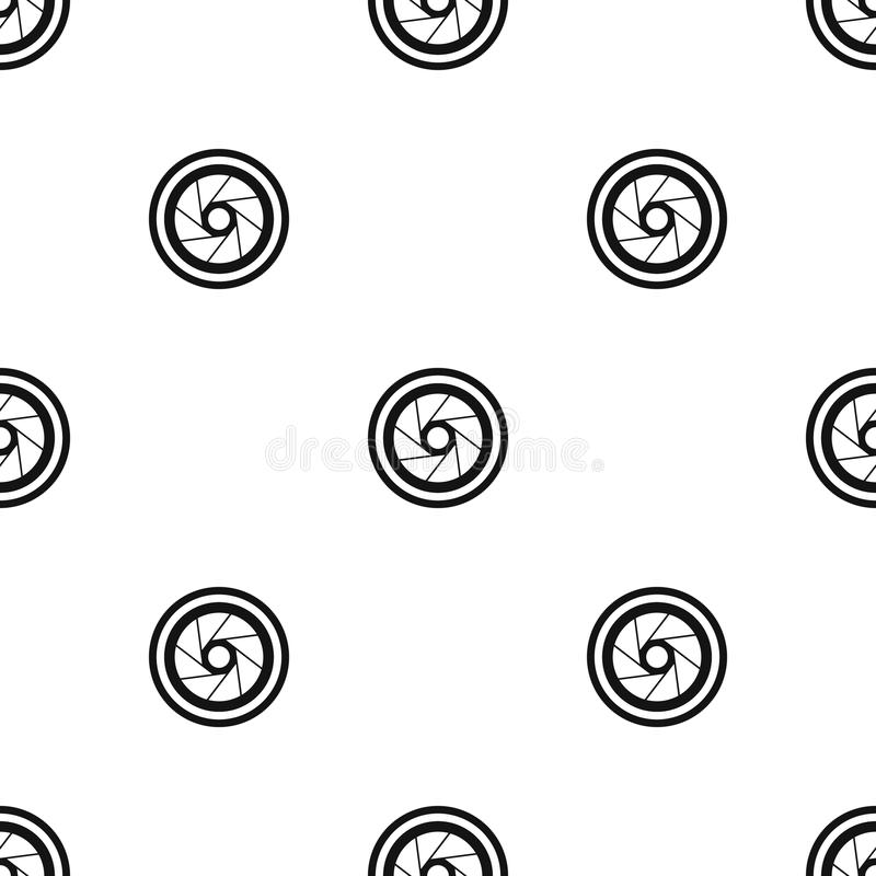 Big objective pattern seamless black. Big objective pattern repeat seamless in black color for any design. Vector geometric illustration stock illustration