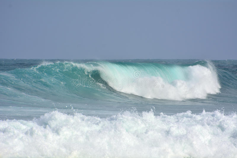 Big ocean wave. In the Canary islands coast stock image